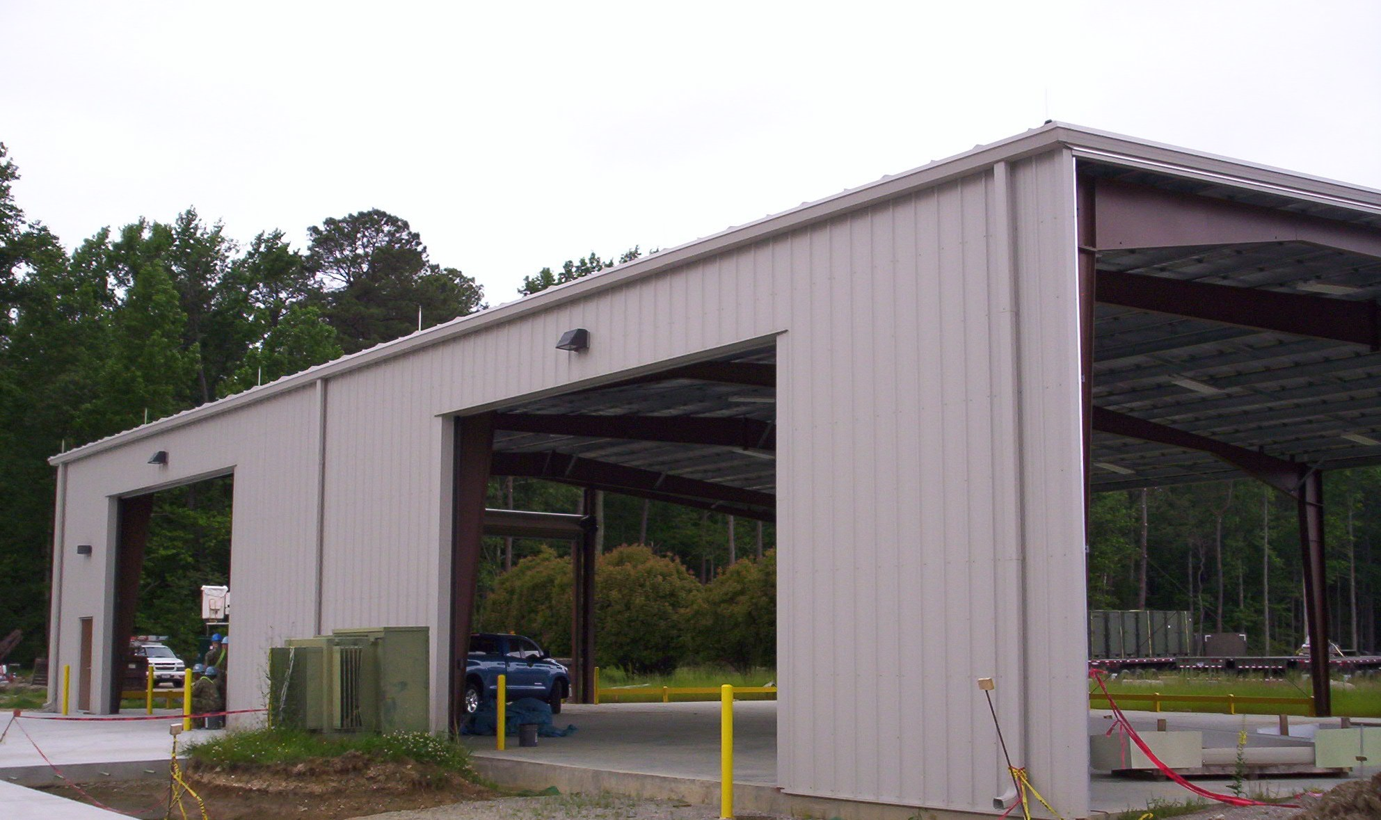lightning protection systems can be installed for large and small storage facilities both during and